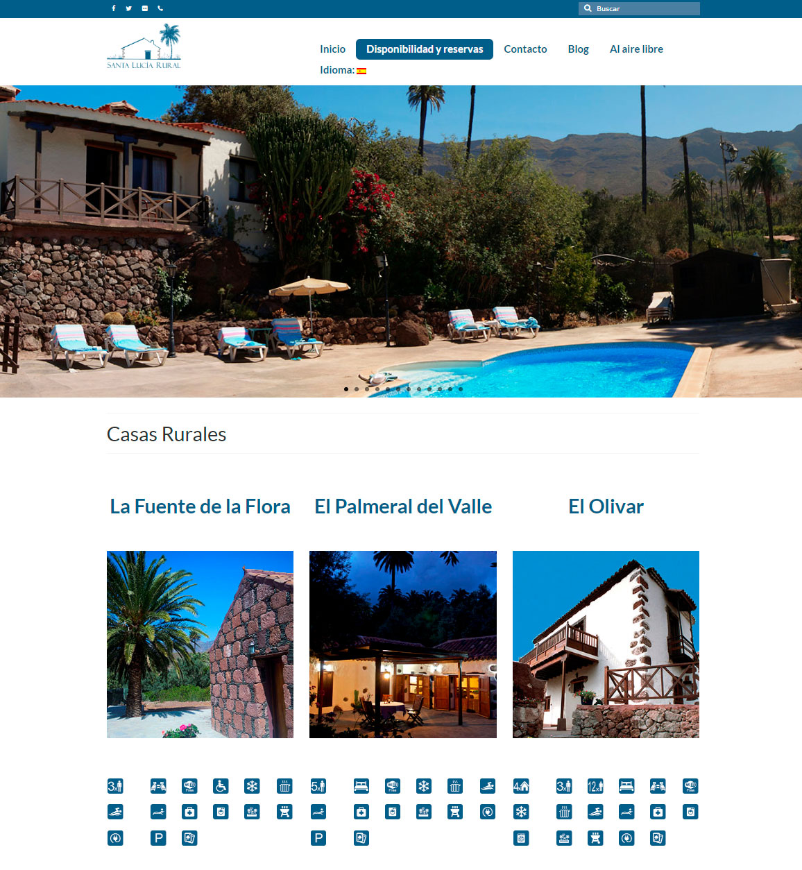Ralización de la web de Santa Lucía Rural